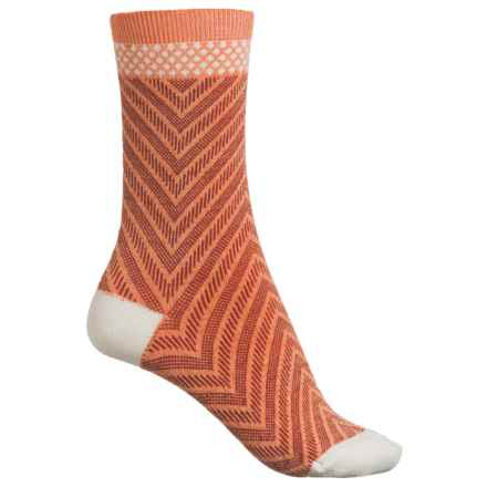 Sockwell Very V Socks - Merino Wool Blend, Crew (For Women) in Tangy - Closeouts
