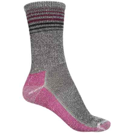 Sockwell Wanderlust Socks - Merino Wool, Crew (For Women) in Black - 2nds
