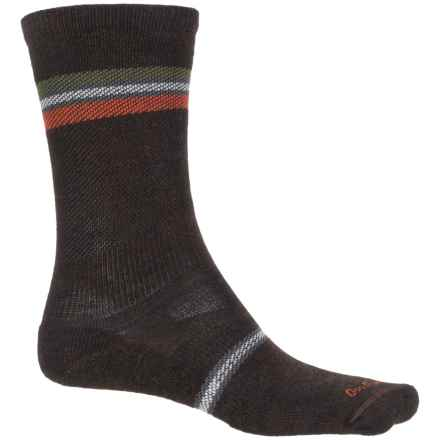Sockwell Whip Stitch Socks - Merino Wool, Crew (For Men) in Espresso - Closeouts