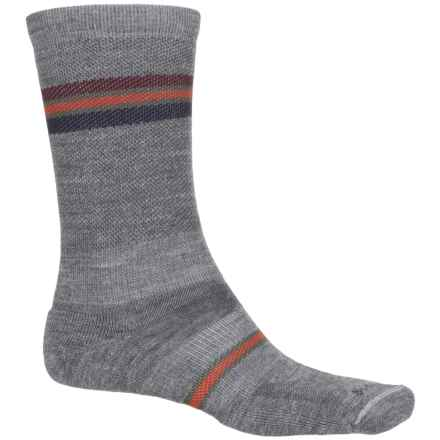 Sockwell Whip Stitch Socks - Merino Wool, Crew (For Men) in Grey - Closeouts