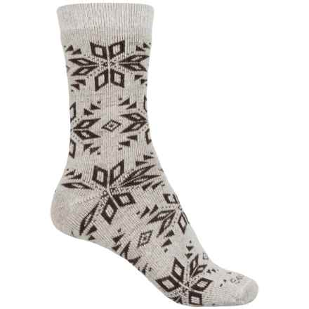 Sockwell Winterlust Socks - Merino Wool, Crew (For Women) in Khaki - Closeouts