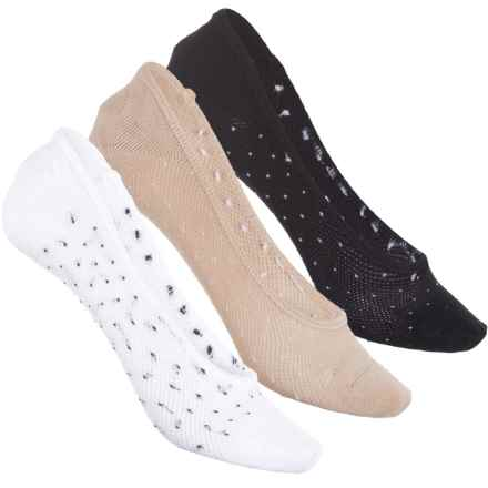 Sof Sole All-Sport Lite Footie Socks - 3-Pack, Below the Ankle (For Women) in Dots - Closeouts