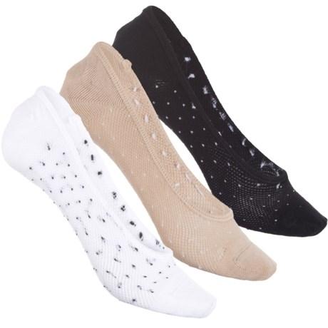 Sof Sole All-Sport Lite Footie Socks - 3-Pack, Below the Ankle (For Women) in Dots