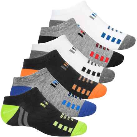 Sof Sole All Sport Lite No-Show Socks - 6-Pack, Below the Ankle (For Little and Big Kids) in Black/White/Grey - Closeouts