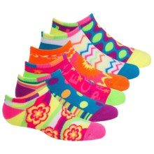 Sof Sole All Sport Lite No-Show Socks - 6-Pack, Below the Ankle (For Little and Big Kids) in Floral - Closeouts