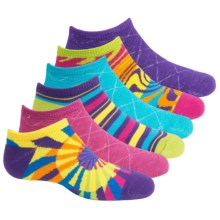 Sof Sole All Sport Lite No-Show Socks - 6-Pack, Below the Ankle (For Little and Big Kids) in Rectangles - Closeouts