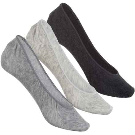 Sof Sole All-Sport Lite Ultra-Low Socks - 3-Pack, Below the Ankle (For Women) in Grey - Closeouts
