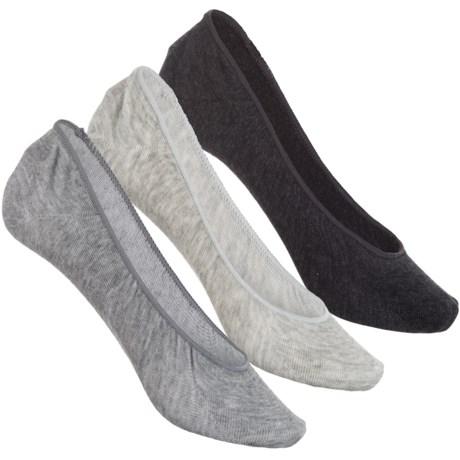 Sof Sole All-Sport Lite Ultra-Low Socks - 3-Pack, Below the Ankle (For Women) in Grey