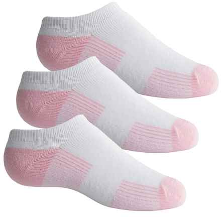 Sof Sole All-Sport No-Show Socks - 3-Pack, Below the Ankle (For Little and Big Girls) in Pink - Closeouts