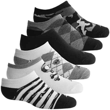 Sof Sole All-Sport No-Show Socks - 6-Pack, Below the Ankle (For Little and Big Girls) in Black/White - Closeouts
