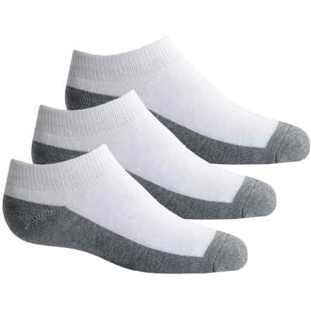 Sof Sole Allsport Low Cut Socks - 3-Pack, Below the Ankle (For Little and Big Kids) in White/Grey - Closeouts
