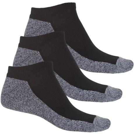 Sof Sole Basic Multi-Sport Socks - 3-Pack, Below the Ankle (For Men) in Black/White
