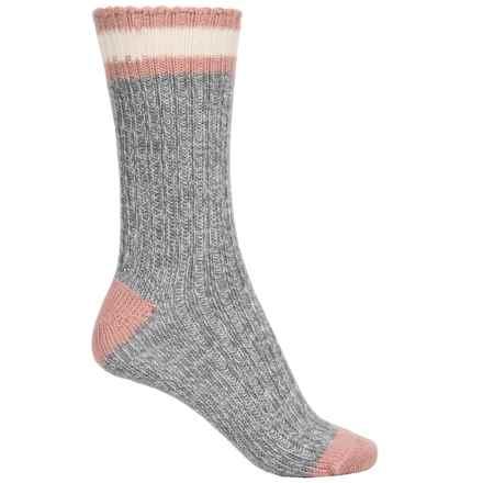 Sof Sole Fireside Outdoor Socks - Merino Wool Blend (For Women) in Pink/Grey - Closeouts