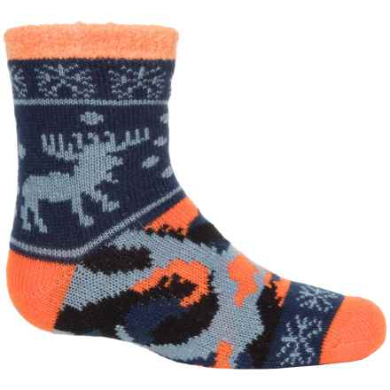 Sof Sole Fireside Socks - Crew (For Little and Big Kids) in Orange/Blue - Closeouts