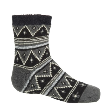 Sof Sole Fireside Socks - Crew (For Little and Big Kids) in Tribal Black