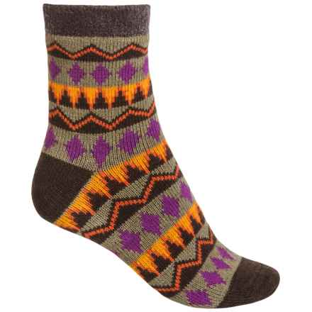 Sof Sole Fireside Socks - Crew (For Women) in Tribal Brown - Closeouts
