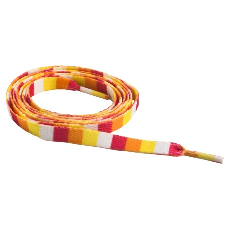"Sof Sole Flat Shoe Laces - 45"" in White/Orange/Pink/Yellow"