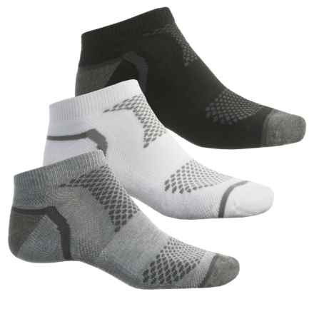 Sof Sole Multi-Sport Cushion Socks - 3-Pack, Below the Ankle (For Men) in Grey/White/Black - Closeouts