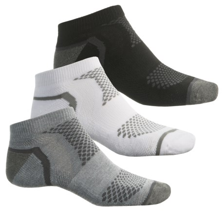 Sof Sole Multi-Sport Cushion Socks - 3-Pack, Below the Ankle (For Men) in Grey/White/Black
