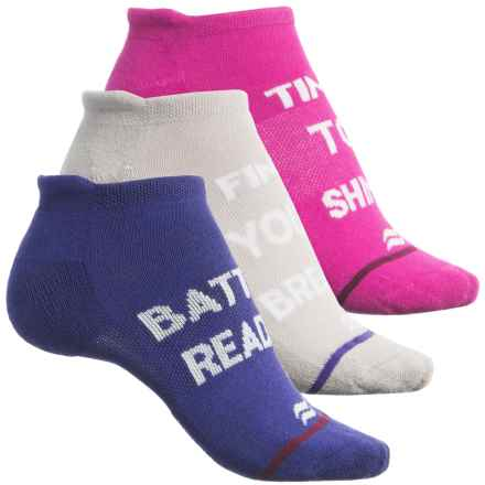 Sof Sole Multi-Sport Cushion Tab Socks - 3-Pack, Below the Ankle (For Women) in Pink/Grey/Purple - Closeouts