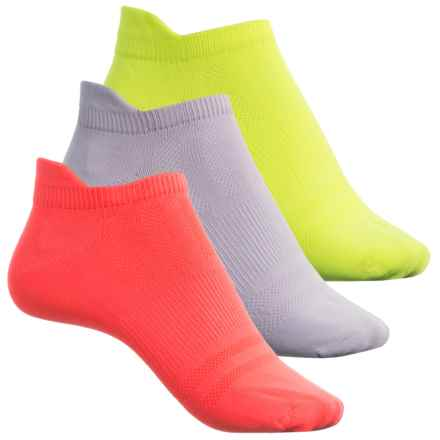 Sof Sole Multi-Sport Lite Tab Socks - 3-Pack, Below the Ankle (For Women) in Florecent Yellow/Grey/Coral - Closeouts