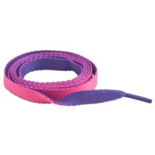 "Sof Sole Neon Flat Shoe Laces - 45"" in Purple/Pink - Closeouts"
