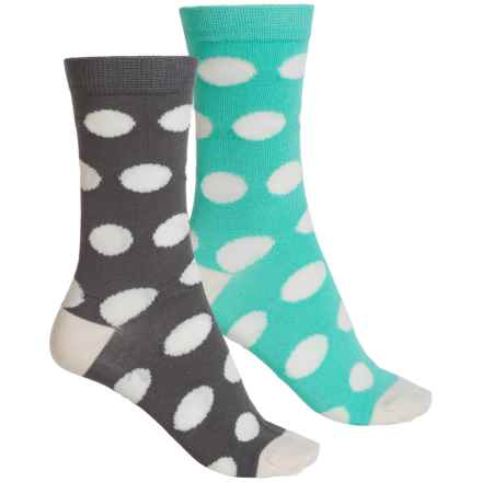 Sof Sole Outdoor Year-Round Crew Socks - 2-Pack, Crew (For Women) in Polka Dots - Closeouts