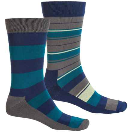 Sof Sole Outdoor Year-Round Socks - 2-Pack, Crew (For Men) in Blue Stripes - Closeouts