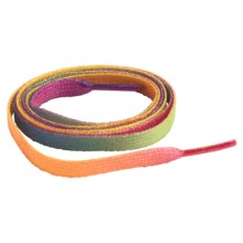 "Sof Sole Rainbow Sublimation Flat Shoe Laces - 45"" in Pink/Purple/Blue - Closeouts"