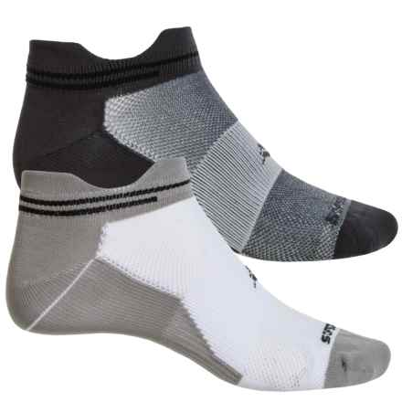 Sof Sole Running Select Double-Tab Socks - 2-Pack, Below the Ankle (For Men) in Black/Grey - Closeouts