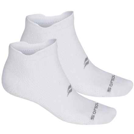 Sof Sole Running Select Double-Tab Socks - 2-Pack, Below the Ankle (For Men) in White - Closeouts