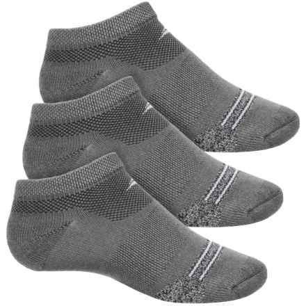 Sof Sole Selective Cushion Socks - 3-Pack, Below the Ankle (For Little and Big Kids) in Stripe Grey Heather - Closeouts