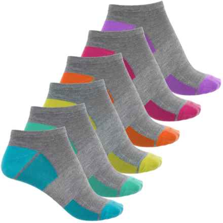 Sof Sole Sport Lite Low-Cut Socks - 6-Pack, Below the Ankle (For Women) in Grey/Multi - Closeouts