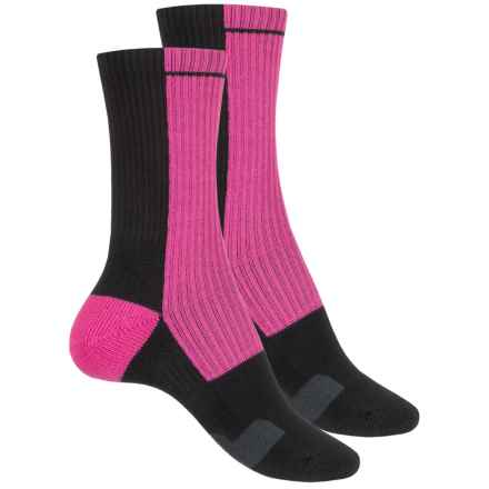 Sof Sole Team Select Socks - 2-Pack, Crew (For Little and Big Kids) in Breast Cancer Awareness Pink/Black - Closeouts