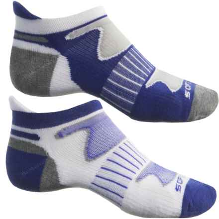 Sof Sole Tech Running Socks - 2-Pack, Below the Ankle (For Men) in Blue/White - Closeouts