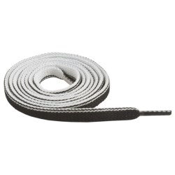 "Sof Sole Two Tone Flat Shoe Laces - 45"" in Black/White"