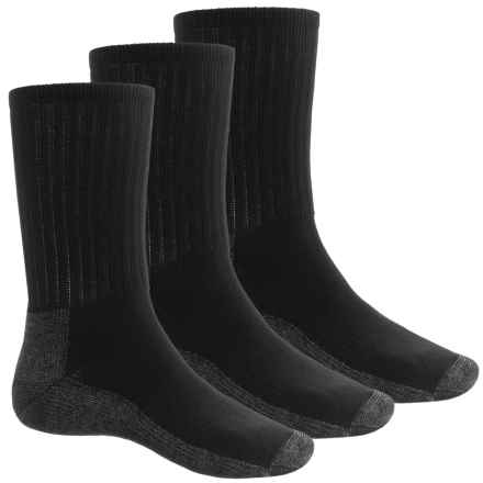 Sof Sole Work Socks - 3-Pack, Crew (For Men) in Black/Charcoal - Closeouts