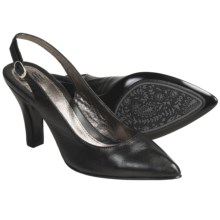 Sofft Astoria Leather Pumps - Sling-Backs (For Women) in Black - Closeouts