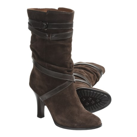 Sofft Balsov Mid-Calf Boots - Leather (For Women) in Coffee Suede