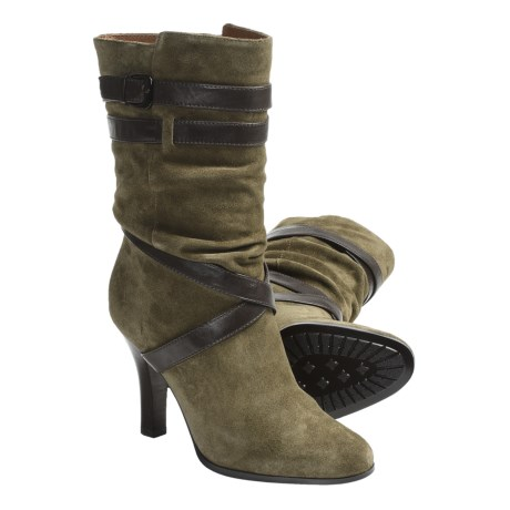 Sofft Balsov Mid-Calf Boots - Leather (For Women) in Moss Suede
