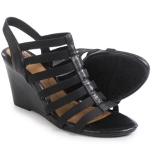 Sofft Barstow Wedge Sandals - Leather (For Women) in Black - Closeouts