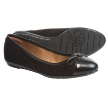 Sofft Becka Ballet Flats - Leather (For Women) in Black King Suede - Closeouts