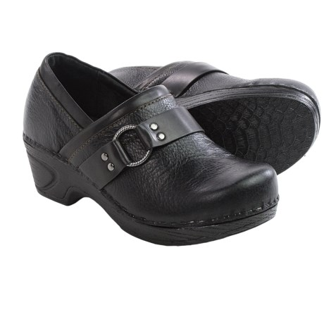 Sofft Berit Leather Clogs (For Women) in Black/Black