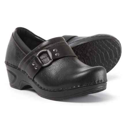 Sofft Berit Leather Clogs (For Women) in Black - Closeouts