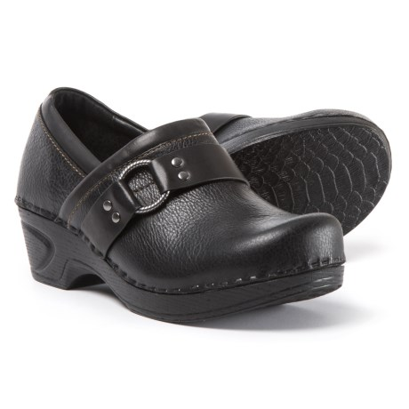 Sofft Berit Leather Clogs (For Women) in Black