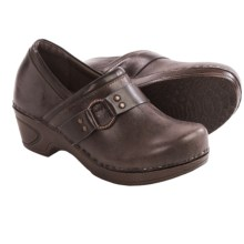 Sofft Berit Leather Clogs (For Women) in Jave/Dark Brown - Closeouts