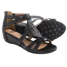 Sofft Breeze Gladiator Sandals - Leather, Wedge Heel (For Women) in Black - Closeouts