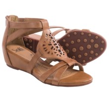 Sofft Breeze Gladiator Sandals - Leather, Wedge Heel (For Women) in Luggage - Closeouts