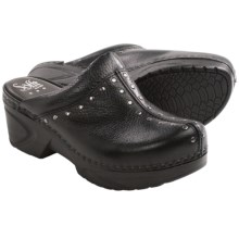 Sofft Cait Clogs - Leather (For Women) in Black - Closeouts