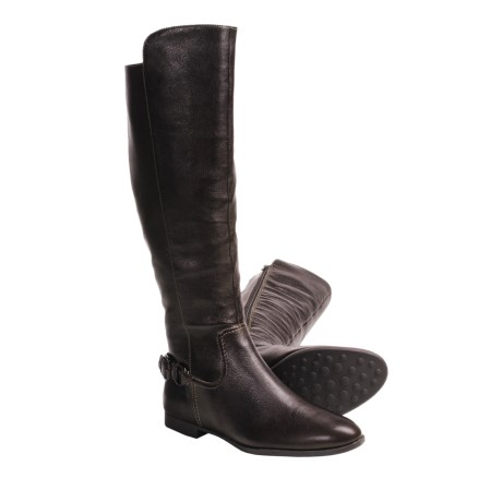 Sofft Claremont Equestrian Style Boots - Leather (For Women) in Dark Brown